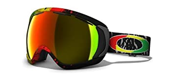 Oakley Canopy Tanner Hall Snow Goggles Black Frame Fire Iridium Lens