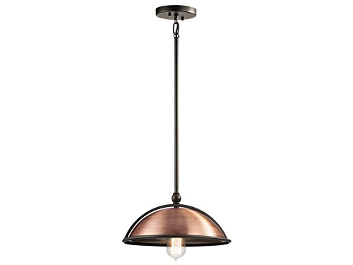 Kichler 42782ACO Sepia 1-Light Pendant, Antique Copper (Sepia Finish)