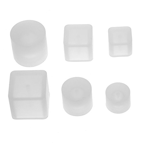 Coobbar 6pcs/set Hole DIY Silicone Mould Crystal Silicone Mould Beads Square DIY Pendant Jewelry Mould Brooch Jewelry Mold