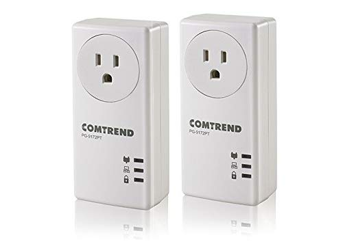 Comtrend 1200Mbps G.hn Powerline Ethernet Adapter with Pass-Through Outlet, 2 Unit Kit, -