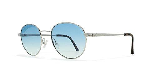 Burberrys B8821 YB7 Silver Flat Lens Vintage Sunglasses Round For Mens and - Sunglasses Vintage Burberry