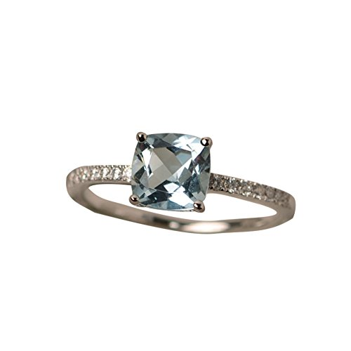 Momangel Elegant Square Faux Topaz Cubic Zirconia Rings Women Bridal...