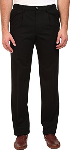Tailored Straight Cut Pants - Dockers Men's Men's Big & Tall Signature Stretch Pleat Black X Pants