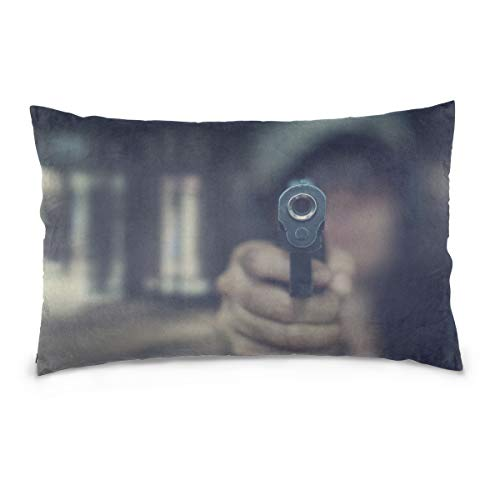 HYTCSY Pistol Bullets and Pistols Pillow Case Printed Standard Size (20