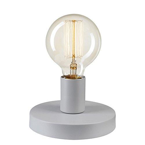 Novogratz x Globe 3-in-1 Plug-In/Hardwire Wall Sconce/Flush Mount/Table Lamp, Gray, Satin Finish 51286