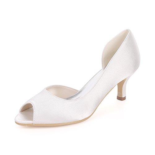 Bombas Mujeres De Flower De 08 Zapatos Peep Y1195 Tac Sandalias Las Toe Ager yYPwpPqz