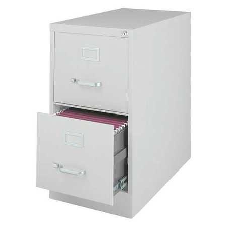 25'' Deep Vertical Letter Size, 2 Drawer File Cabinet, Lt Gray