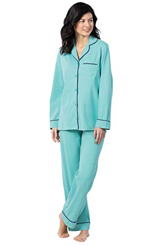 PajamaGram Soft Women PJs Sets - Womens Sleepwear, Turquoise, X-Large (18)