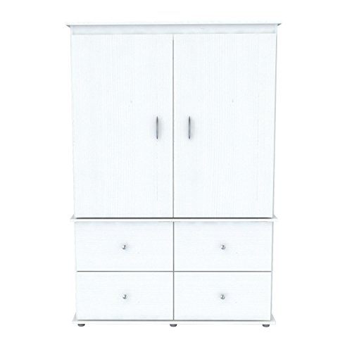 Mdf Set Armoire (Svitlife Larcinia White Audio Video Armoire Cabinet - 70.8