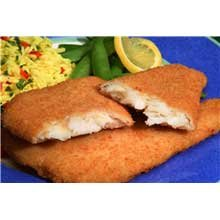 New Wave Kaptains Ketch Breaded Flounder Fillet, 4 to 5 Ounce - 18 per case. (Breaded Fish)