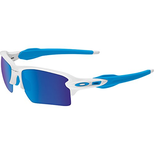 Oakley Men's Flak 2.0 XL OO9188-02 Rectangular Sunglasses, Matte White, 59 - White Oakley Sunglasses