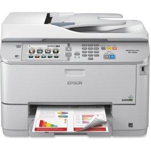 Epson WorkForce Pro WF-5690 Inkjet Multifunction Printer - Color - Plain Paper Print - Desktop - Copier/Fax/Printer/Scanner - 20 ppm Mono/20 ppm Color Print (ISO) - 20 ipm Mono/20 ipm Color Print (ISO) - 4800 x 1200 dpi Print - 19 cpm Mono/19 cpm Color Co