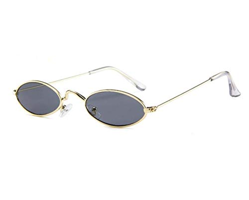 Decoration Eyewear Shape Protection Sunglasses sol Frame Women Golden Men Outdoor de Small Oval Fashion Gafas FlowerKui Driving UV400 Z4U6wqIn