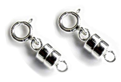 uGems 2 Sterling Silver Converters Magnetic Clasps (2 Sets)