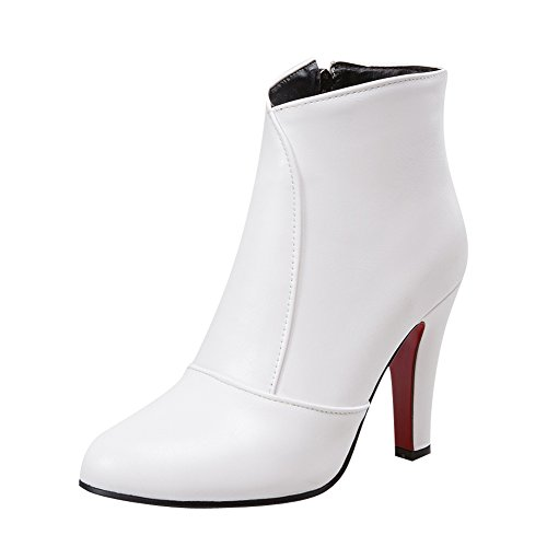 Latasa Womens High Heels Ankle High Fall Dress Boots White k3VeEoVf
