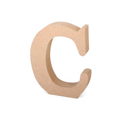 Freestanding 26 A-Z 3D Natural Wooden Letters Alphabet