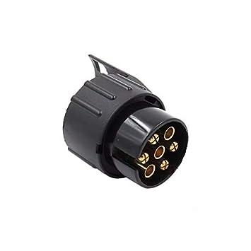 7 Pin a 13 Pin Adaptador Conector de Enchufe del Z/ócalo Corto de Remolque Caravana 12v 1PCS