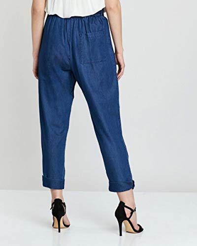 French Connection Womens Waist Tie Paper Bag Trousers Pants Size 4 $118