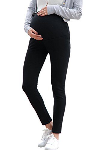 Extra Donne Simgahuva Premaman Soft Pantaloni Black Lunghi Sulla Pancia Dei Le Leggings Fn1xw04q