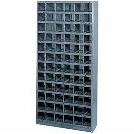 72 Compartments Steel Storage Bin Cabinet 36x18x75