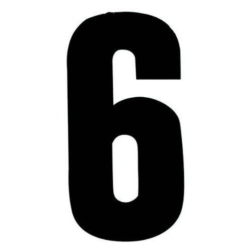 Self Adhesive Wheelie Bin Numbers 17cm - 6 - Black Classic Sign & Design EXPSFD011324