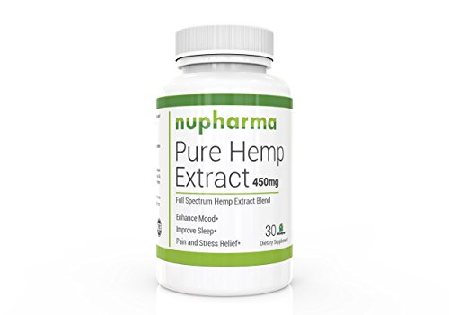 Pure Hemp Extract 450mg- 30 ct- 30 mg per Serving- Full Spectrum- Promotes Anxiety Relief, Reduces Stress and Chronic Pain, Anti-Inflammatory