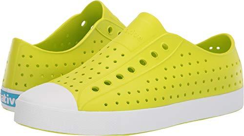 Native Shoes Jefferson Sneaker, glo Green/Shell White, 7W9 Medium US