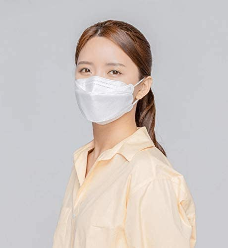 [20 Pack] [Air Queen] White 3-Layers Face Safety Mask for Adult + 1 [Black] All Keeper KF94 Mask [Individually Packaged] [Both Made in Korea]