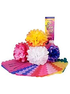Amazon pacon pac59600 colorfast tissue flower kit 10 kolorfast 0059600 tissue paper flower kit 10 7 per kit mightylinksfo