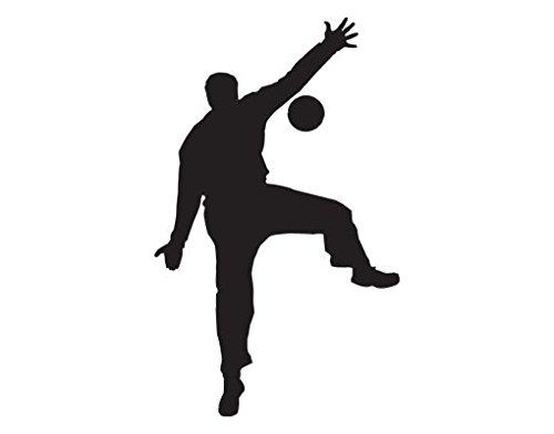 Dimensions Team Handball (Wall Decal no.UL909 Handball Goal Keeper | wall tattoo wall tattoos wall stickers | Color: Creme; Dimensions: 57.9 x 35.4 inches)