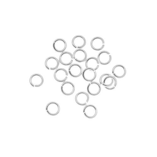 Beadaholique SSJL04 20-Piece Sterling Jump Lock Rings, 4mm, 20-Gauge, Silver