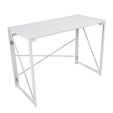 Modern Folding Table   Amazon Com Folding Computer Desk 39 No Assembly Foldable Table