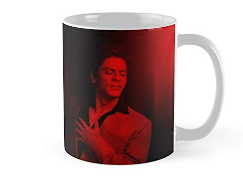 Hued Mia Mug Shahrukh Khan - Celebrity Mug - 11oz Mug - Features wraparound prints - Dishwasher safe - Made from Ceramic - Best gift for family friends