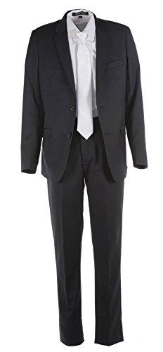 Tuxgear Boys Black Slim Fit Communion Suit With Communion Cross Dress Tie (Boys 20) by Tuxgear