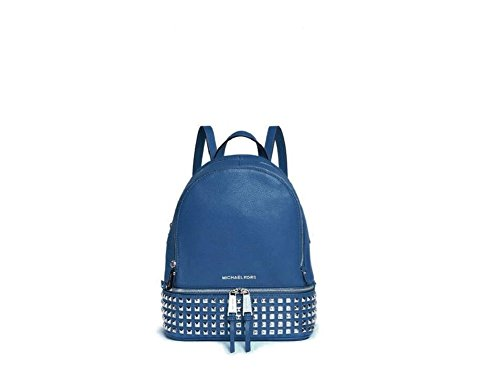 1c5dce3d7e1c MICHAEL Michael Kors 'Extra Small Rhea Zip' Leather Studded Backpack, Steel  Blue - Buy Online in UAE. | michael kors Products in the UAE - See Prices,  ...