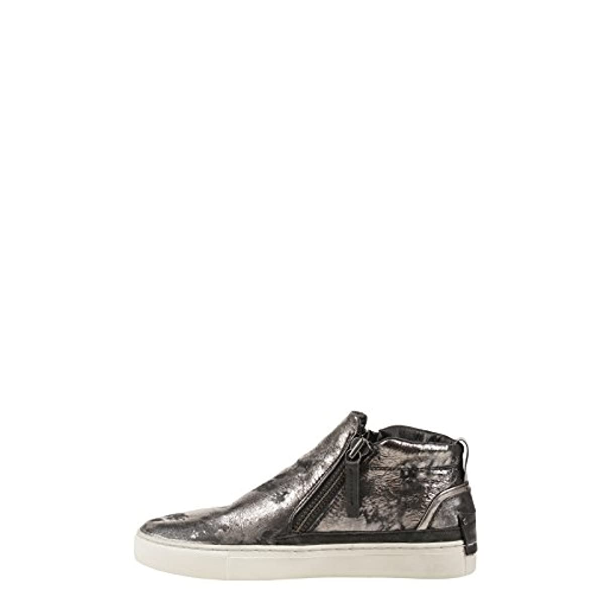 Crime London 25360 Polacco Sneaker Pelle Laminata Grigio 36