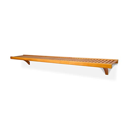 John Louis Home 12in. Deep 6ft. Shelf Kit - Honey Maple Finish