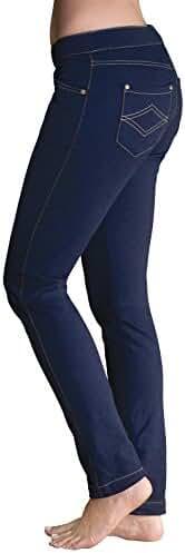 PajamaJeans - Petite Skinny Stretch Knit Denim Jeans for Women