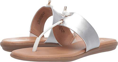 Aerosoles A2 Women's CHLEAR Sight Flip-Flop White Silver 6.5 M US