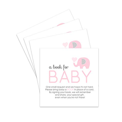 - Pink Elephant Bring a Book for Baby Insert - Set of 25