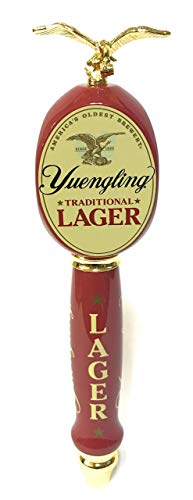 "Yuengling Traditional Lager 2018 13"" Tap Handle - 3 Sided with Gold Eagle Topper"