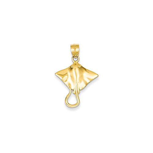 Roy Rose Jewelry 14K Yellow Gold Stingray Pendant 14k Yellow Gold Stingray