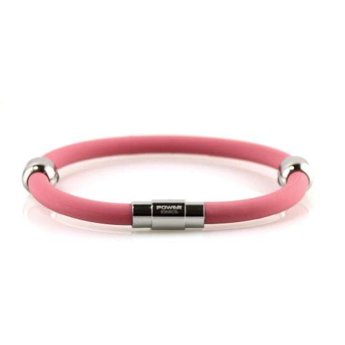 Puissance Ionics® Date d'alimentation Titanium Ionic plus magnétique bracelet d'équilibre de bande de couleur rose 2 taille U de sélection (20 centimètres)