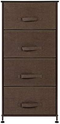 Goujxcy Nightstand,4-Drawer Dresser Tower Fabric Storage Tower