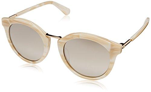 Kate Spade Women's Joylyn/s Round Sunglasses, White, 50 mm