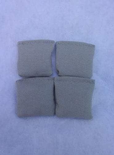 3 White Mini Cornhole Bags Replacement bags set of 4