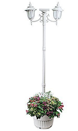 Outdoor Lamp Post Planter - 5