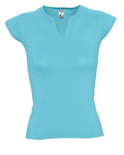 SOL'S - Camiseta - para mujer azul (Atoll)