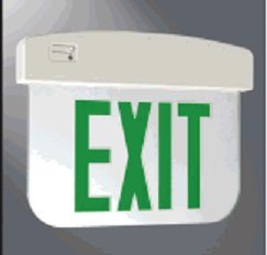 All-Pro APXEL71G Exit Sign Light, Edge Lit, 1F, Battery, Green