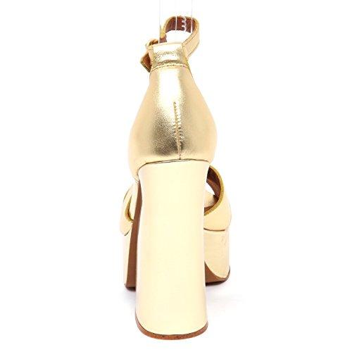 Sandalo Doré Donna STEFANYA Campbell Shoe Jeffrey Woman oro Calf D9032 aRZEw1g